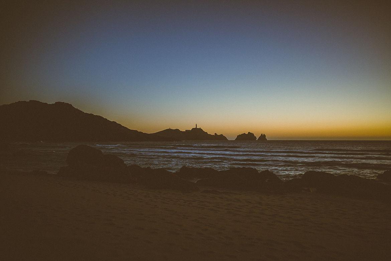 Faro Vilán desde Playa Reira